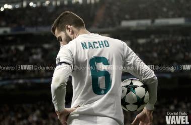 Nacho en un partido de Champions con el Real Madrid/ Foto: Vavel