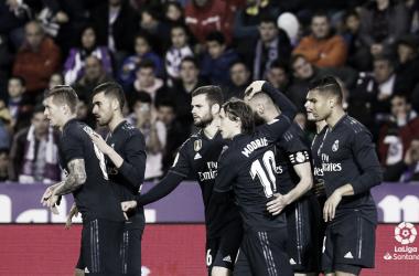 Nacho Fernández, defensa del Real Madrid, titular en el encuentro liguero ante el Valladolid | Foto: LaLiga.es