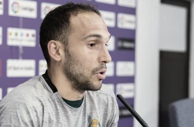 Nacho Martínez en la sala de prensa de Zorrilla | LaLiga