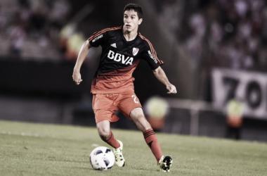 Nacho Fernández en acción. Gran estreno con La Banda (Foto: River Plate Oficial).