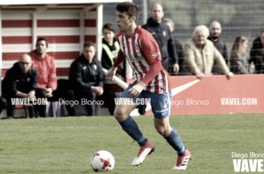Nacho Méndez en un partido con el filial. | Imagen: Diego Blanco-VAVEL.