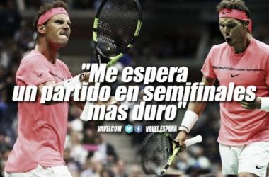 """Rafael Nadal: """"Me espera un partido en semifinales más duro"""""""