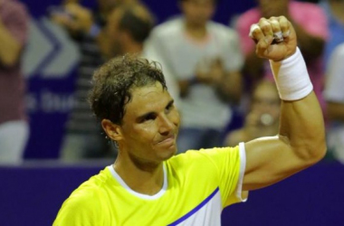 Rafael Nadal victorious on Thursday in Buenos Aires. Photo: Argentina Open