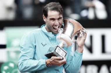 Nadal y su título número 34 en Masters 1000. Foto: Zimbio.