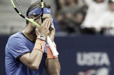 Rafa Nadal tras caer derrotado ante Pouille. Fuente: Zimbio