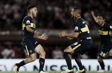 El rugido del gol que le dio la victoria al Xeneize, en un nuevo Superclasico. Foto: Boca Juniors