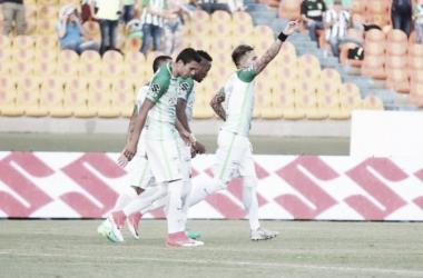 Dayro Moreno fue el autor del gol en la última victoria 'verde' ante Tolima por Liga. | Foto: Atlético Nacional