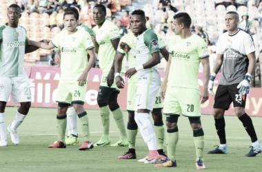Nacional nuevamente padece de 'anemia' de gol y resignó dos puntos en su estadio. | Foto: Atlético Nacional