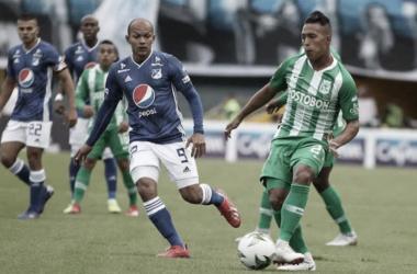 Nacional rescató un empate en el Atanasio frente a Millonarios