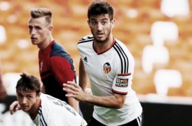 Nando, en un partido con el Valencia. / Foto: Valencia CF