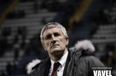 Quique Setién, técnico del Real Betis | Foto: Nando Martínez - VAVEL