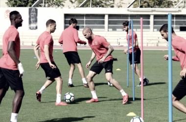 La UD Almería en un entrenamiento / Foto: UD Almería