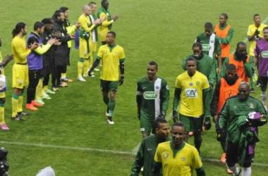 Malgré la défaite, le sourire est présent pour les joueurs martiniquais (Photo : Ouest-France)