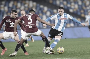 Insigne marca nos acréscimos e Napoli busca primeiro empate na Serie A diante do Torino