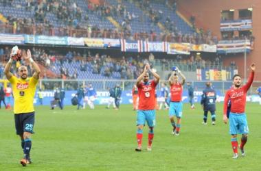 Los jugadores del Nápoles celebrando la victoria   Foto: Nápoles