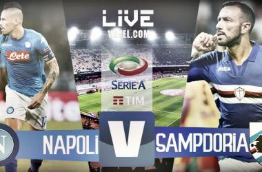 Napoli - Sampdoria in diretta, LIVE Serie A 2017/18 (3-2): decide Hamsik, Napoli solo al comando!