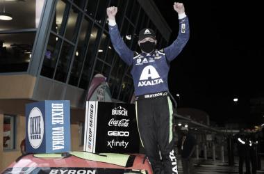 Festejo de Byron en Victory Lane / Foto: Hendrick Motorsports Twitter