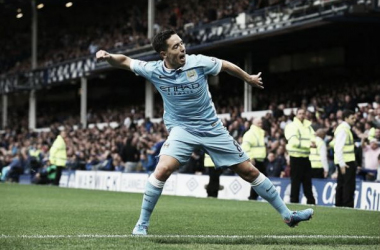 Picture source: Twitter - Nasri celebrates his deft chip to settle the three points