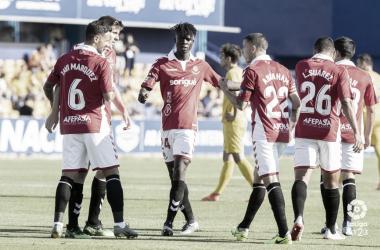 Los jugadores del Nástic celebran el tanto de Javi Márquez | LaLiga 1|2|3