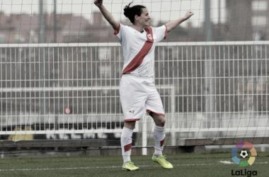 Natalia Pablos en un partido | Fuente: LaLiga