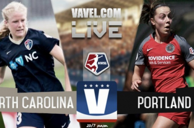 The 2017 NWSL Championship features the North Carolina Courage vs the Portland Thorns