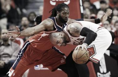 Nenê y un gran último cuarto dan a los Wizards la primera victoria sobre Chicago