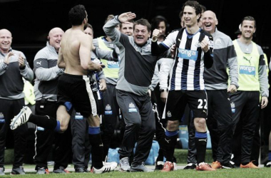A momentous occasion for John Carver and Newcastle, with a hard-fought win against West Ham to maintain a place in the Premier League for next season.