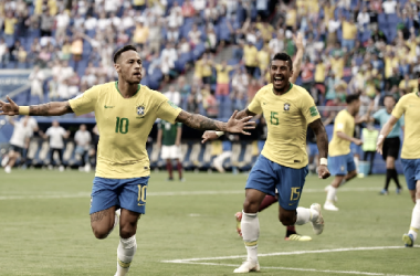 Neymar apareció en el momento oportuno. Foto: Copa Mundial de la FIFA