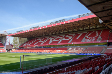 A general view inside Nottingham Forest's City Ground Stadium - capturing the Brian Clough Stand&nbsp;<div>(Photo by Jon Hobley via Getty Images)&nbsp;</div>