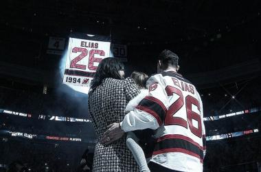 Patrik Elias ya tiene su número en lo más alto del hogar de los Devils