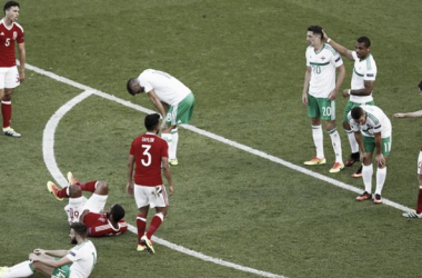 The Northern Ireland players were left devastated (Picture source: Reuters)