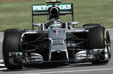Nico Rosberg partira de la pole position pour le Grand Prix du Canada. Credits photo: @Formula1game on twitter