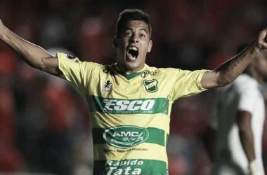Nicolás Fernández grita un gol. Foto: Gol de Vestuario.