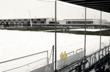 La nieve hace acto de presencia en las instalaciones del Real Madrid