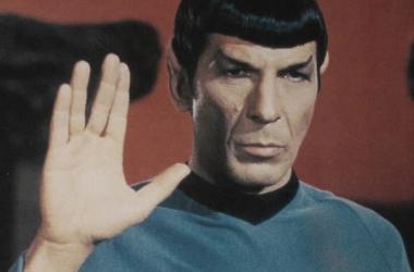 Leonard Nimoy nei panni del signor Spock