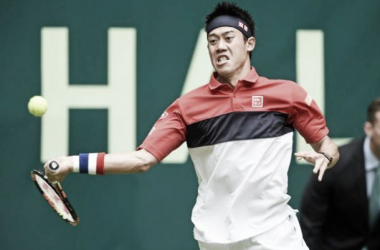 Kei Nishikori came through in straight sets against Dominic Thiem on day two in one of the best matches of the day. Photo source: Sky Sports