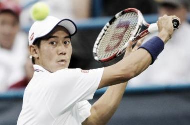 Kei Nishikori of Japan battled through against James Duckworth. (Credit Fox News)