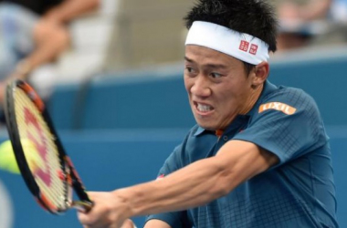 Kei Nishikori. Photo: Saeed Khan/AFP