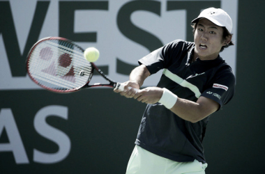 Nishioka, en el pasado torneo de Indian Wells. Foto: zimbio