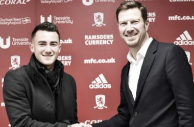Jack Harrison posa como jugador del Middlesbrough. Foto: Middlesbrough
