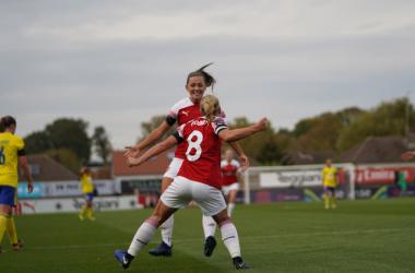 Nobbs celebrates scoring against Birmingham   Photo: Joerdeli Photography - Daniela Porcelli