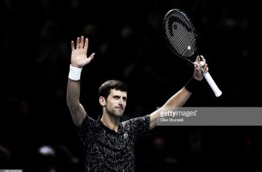 Djokovic celebra su victoria. Foto: Getty Images.