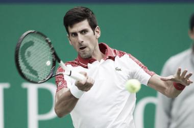 Novak Djokovic durante un partido esta semana en Shanghai. Foto: zimbio.com