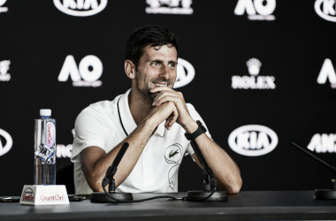 Djokovic atiende a la prensa en Melbourne. Foto: ausopen.com