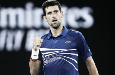 Djokovic celebra un punto. Foto: Australian Open