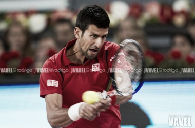 Djokovic durante el pasado Mutua Madrid Open. Foto: Rodrigo Jiménez Torrellas - VAVEL