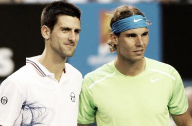 Djokovic y Nadal antes de la final de 2012. Foto: Australian Open.