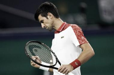 Djokovic festeja seguir en pie en Shanghai. El serbio va en busca de volver a ser el número 1 del mundo. Foto: ESPN Tenis