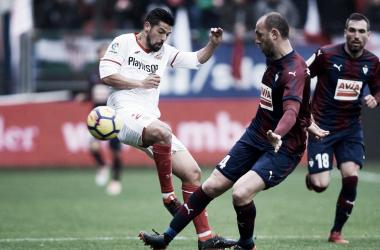 Nolito en el último encuentro contra SD Eibar | Foto: Sevilla FC