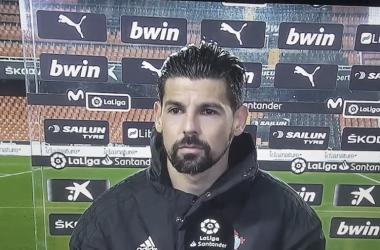 Nolito en su entrevista a pie de campo | Imagen: Movistar